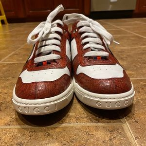 Gucci Python Leather Sneakers
